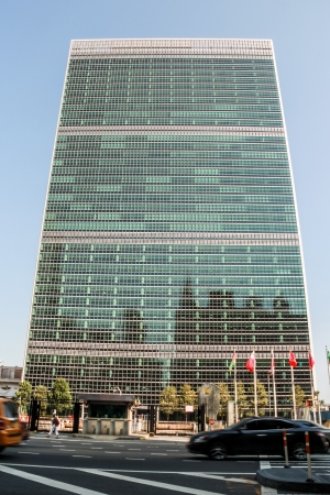 nazioni unite: NEW YORK CITY, NEW YORK - 4 settembre Sede delle Nazioni Unite, a New York City, NY, il 4 Settembre 2013