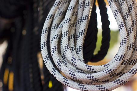 Black and white ropes
