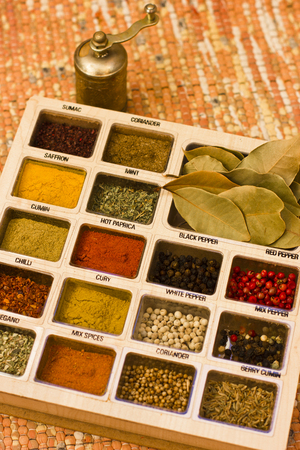 Mix spices with mill