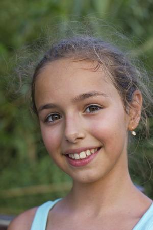 Smiling pretty little girl