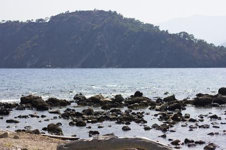 Sea and mountain landscape