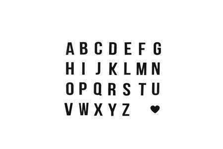English alphabet. Black letters on white background. Isolated Banco de Imagens