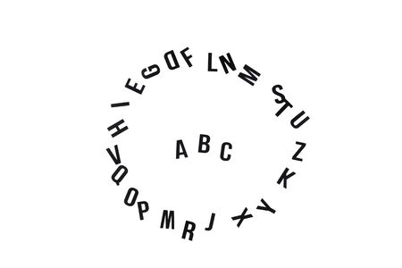 English alphabet. Circle of the english letters