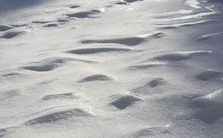 snowbanks: The abstract background from snow