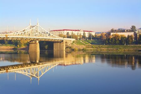 City and the bridge through the river