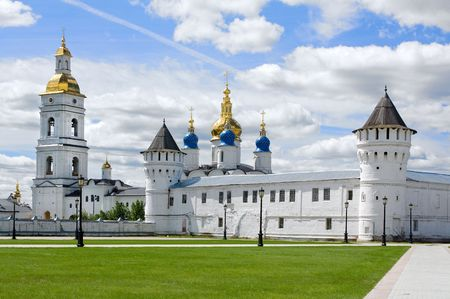 Christian temple in Tobolsk in the summer photo
