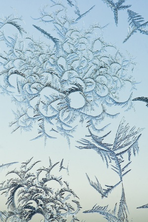 The abstract frosty pattern on glass Stock Photo - 8342223