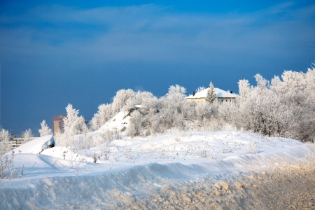 winter landscape with the blue sky Stock Photo - 17762138