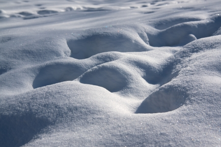 beautiful winter abstract background from white snow Stock Photo