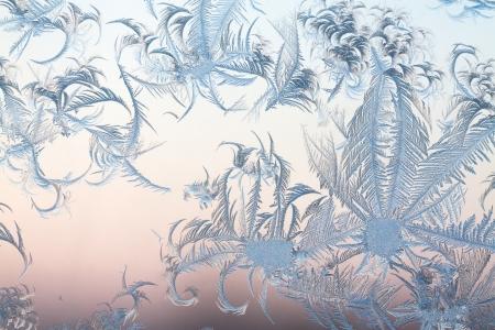 abstract frosty pattern on glass Foto de archivo