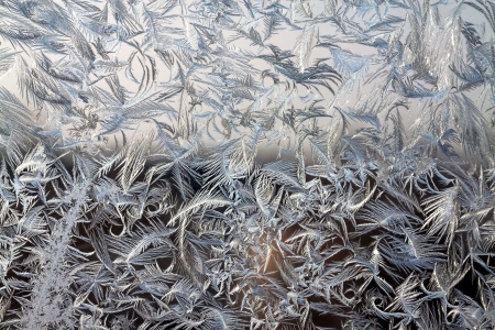 frost bound: abstract background from frosty pattern on glass