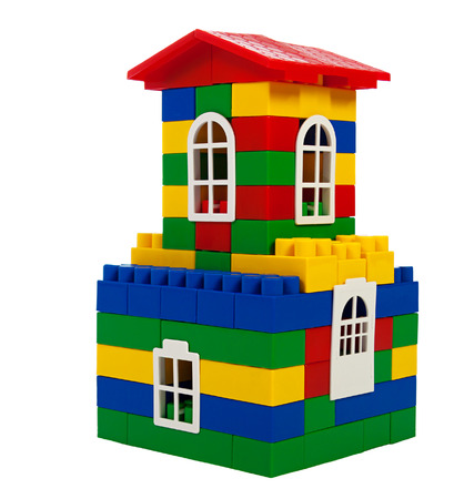 toy colorful  house isolated on a white background