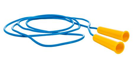 saltar la cuerda: saltar la cuerda aislado en un fondo blanco
