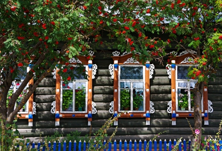 the rural house with shutter  at windows