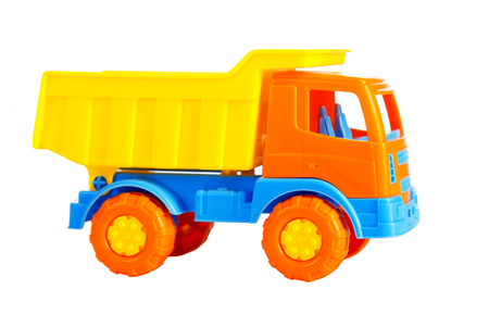 toy car the truck isolated on a white background photo