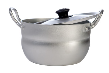 metal pan isolated on a white background
