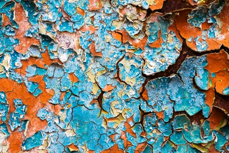 old abstract background from the cracked paint on rusty iron Stock Photo - 22930428