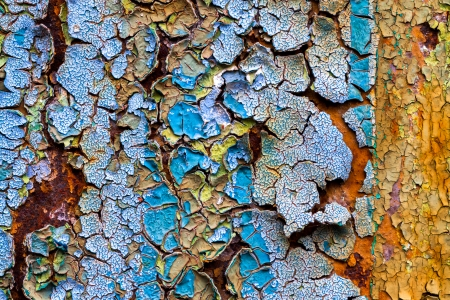 old abstract background from the cracked paint on rusty iron Stock Photo - 22930438