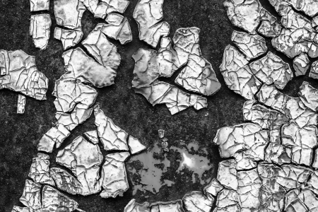 old abstract background from the cracked paint on rusty iron Stock Photo - 23016474