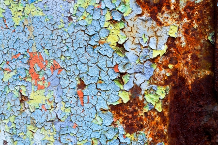 old abstract background from the cracked paint on rusty iron Stock Photo - 23016556