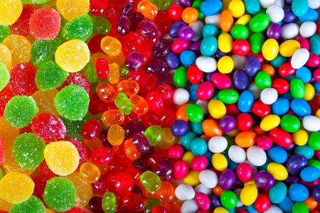 close up a background from colorful sweets of sugar candies