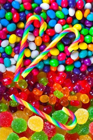 close-up een achtergrond van kleurrijke snoepjes suiker suikergoed