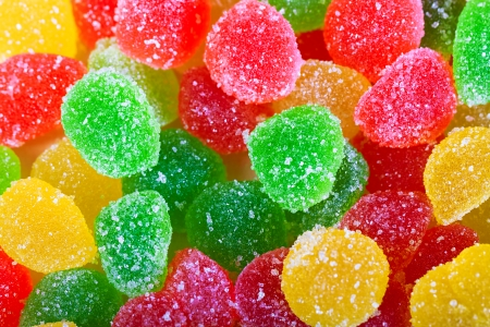 background from colorful sweets of sugar candies macro photo