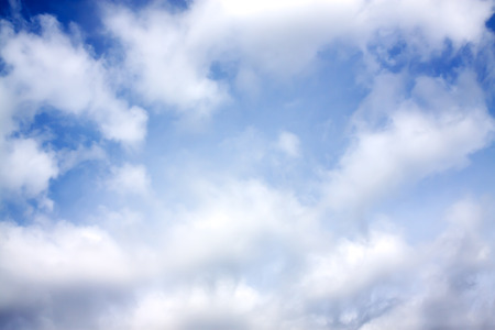 abstract background from the blue sky with white clouds photo