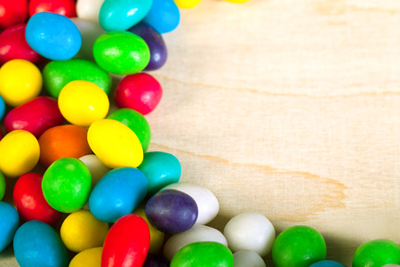 frame  a from colorful sweets of sugar candies Stock Photo