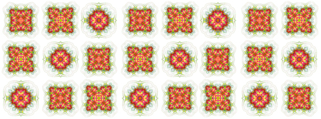 seamless wallpaper with abstract pattern. green red geometric ornament tiles isolated on white background 版權商用圖片