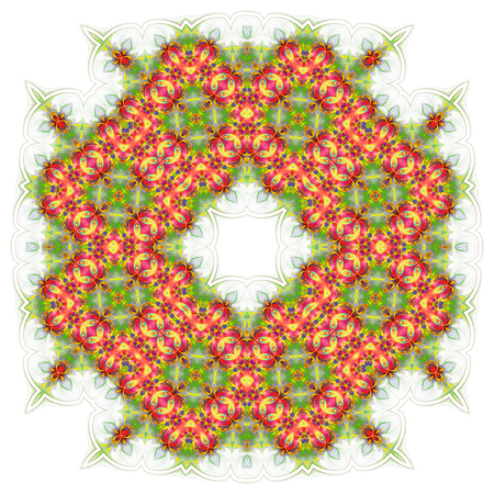wallpaper with abstract pattern. green red geometric ornament tiles isolated on white background 版權商用圖片 - 117765107