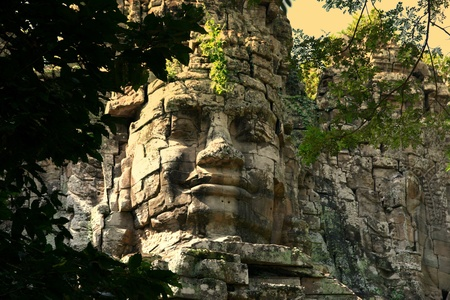 cambodge: Giant face in Angkor