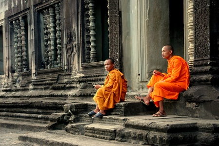 moine: Moines bouddhistes � Angkor Wat