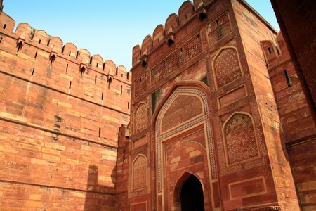 agra: Entrance of the Red Fort in Agra
