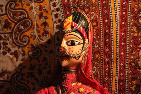 Traditional wooden puppet from Rajasthan