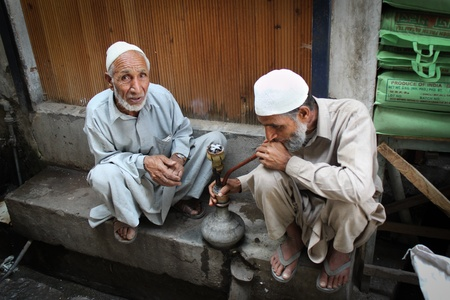 neighbourly: Street scene in Srinagar Editorial