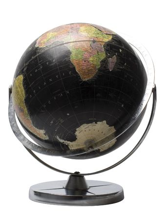 Black earth globe showing the sourthern hemisphere Banco de Imagens - 652946