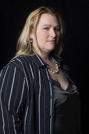 Volledige cijfer vrouwen in avond kleding Stockfoto