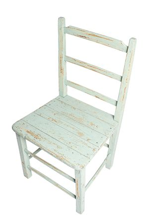 Ruff up green country style chair Stock Photo - 5129662