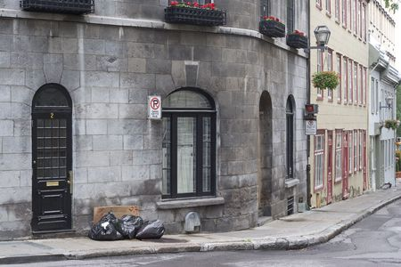 stuartkey: Garbage day on a street corner of Old Quebec