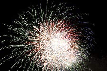 Firework display against black sky Stock Photo - 5473129