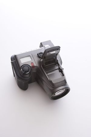 One of the first consumer digital camera with flash up