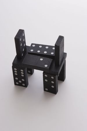 structure: structure made out of domino pieces