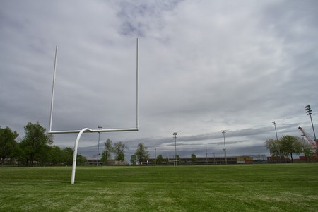 View of a football end field photo