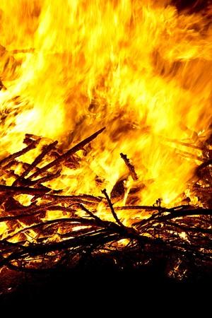 close up of a camp ground bonfire