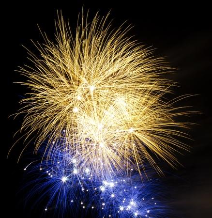 Vuurwerk tegen zwarte hemel
