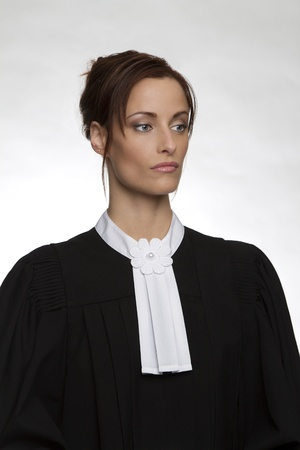 Canadian attorney in full attire photo