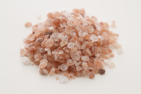 salt crystal: Pile of pink salt crystal