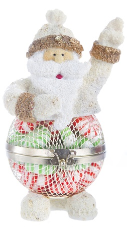Candy cup shaped like a santa claus waving Stock Photo - 17117578