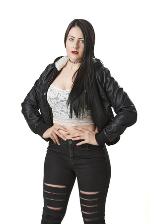 twenty something: sexy twenty something girl with lace top